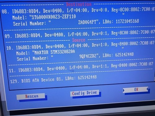 Maxtor DDI hard drive detection