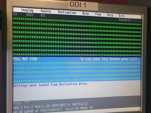 DDI Imager of mac hard drive